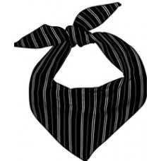 Chef Neckerchief (WHITE PINSTRIPE)