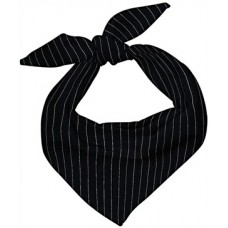 Chef Neckerchief (BLACK PINSTRIPE)